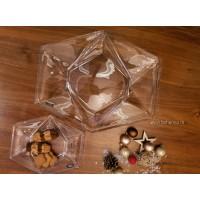 Set 6 farfurii desert si platou Bohemia cristalit - Origami - Nr catalog 2748 (Fructiere - Boluri - Platouri)