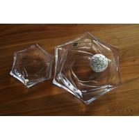 Set tort/desert Bohemia cristalit - Flamenco - Nr catalog 2285 (Fructiere - Boluri - Platouri)