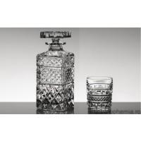 Set pahare de whisky si sticla din cristal Bohemia - Manhattan - Nr catalog 1836 (Pahare cu sticla)