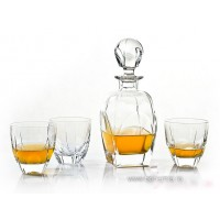 Crystal whisky glasses with bottle set - Symphony - Catalog No 346
