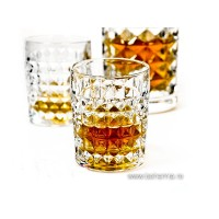 Crystalite whisky glasses - Diamond - Catalog No 1404