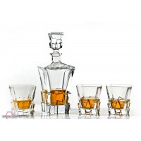 Crystal whisky glasses with bottle set - Havana - Catalog No 1100