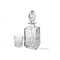 Set pahare si sticla de whisky din cristal de Bohemia - Precious - Nr catalog 1088 (Pahare cu sticla)