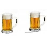 Set 2 halbe de bere din cristal de Bohemia - Caren - Nr catalog 2969 (Ceasca)