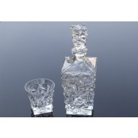 Crystal whisky glasses and bottle set - Glacier Collection