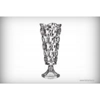 Vaza cu picior 40.5 cm Bohemia cristalit - Samba - Nr catalog 2223 (Vaze)