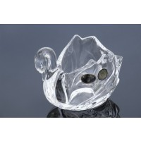 Crystal swon bowl- Catalog No 723