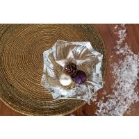 Crystal bowl with Christmas decorations - Neptun - Catalog no 2708