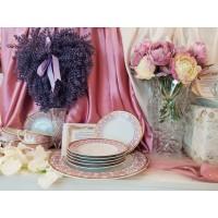 Porcelain table set - Bolero Red - Catalog no 2430