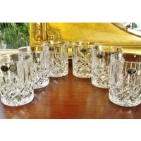 Crystal whisky glasses - Sheffield - Catalog No 810