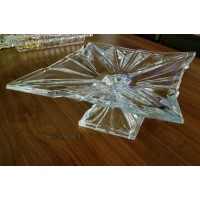 Crystallite footed plate - Havana - Catalog no 2650