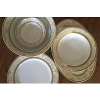 Porcelain table set 26 pieces - 6 persons - Sharim Gold - Catalog no 1502