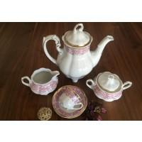 Porcelain coffee set for 12 persons - Bolero Red - Catalog no 2569