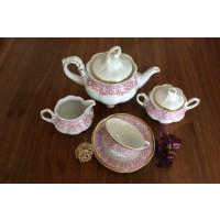 Porcelain tea set - Bolero Red - Catalog no 1660