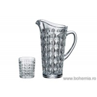 Crystallite lemonade glasses with jug set - Ingrid - Catalog No 1491