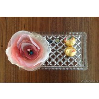 Crystal plate with flower - Madison - Catalog no 1807