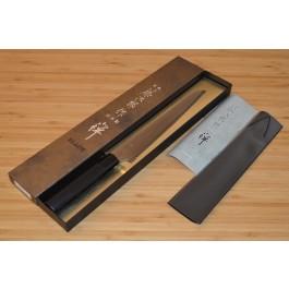 Cutit Profesional pentru paine, Tojiro Zen Black FD-1559, 240 mm - Nr catalog 2677 (Cutite profesionale japoneze)