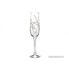 Pahare de sampanie Bohemia Cristalit - String Gold - Nr catalog 3074 (Pahare)