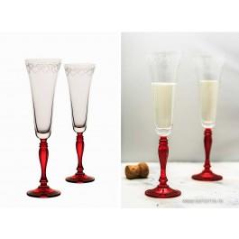 Set 2 pahare sampanie Bohemia cristalit - Love Fancy - Nr catalog 3170 (Pahare)