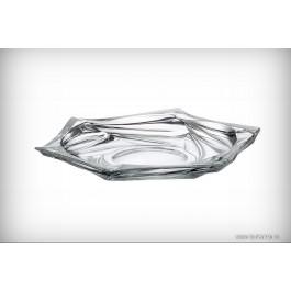 Platou mediu 20.5 cm Bohemia cristalit - Flamenco - Nr catalog 2246 (Fructiere - Boluri - Platouri)
