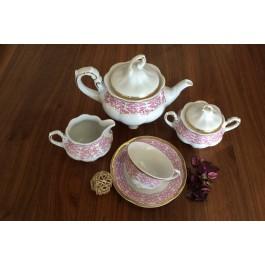 Serviciu de ceai 6 persoane - Bolero Red - Nr catalog 1660 (Set Servicii Portelan de cafea)