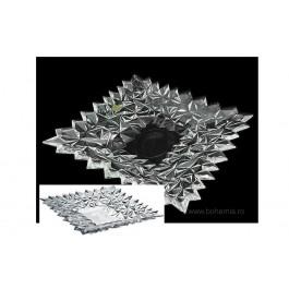 Set tort din cristal de Bohemia - Glacier - Nr catalog 2617 (Fructiere - Boluri - Platouri)