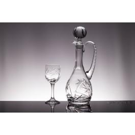 Set sticla si pahare pentru vin din cristal Colectiia Imperial