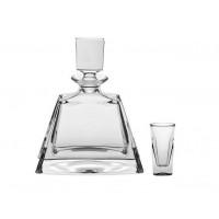 Set sticla si pahare pentru lichior din cristal Colectiia Cathreen