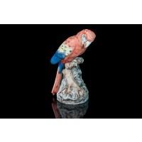 Figurină din porțelan de Bohemia Papagal