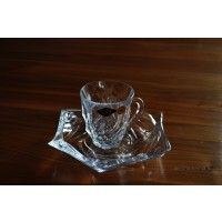 Set 6 cesti cu farfurii Bohemia cristalit - Flamenco - Nr catalog 2287 (Diverse)