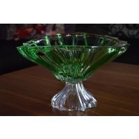 Fructiera Bohemia cristalit 33 cm - Venus Verde - Nr catalog 2356 (Fructiere - Boluri - Platouri)
