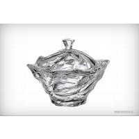 Caseta 13 cm Bohemia cristalit - Flamenco - Nr catalog 2238 (Bomboniere si casete cu capac)