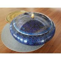 Caseta cloisonne mare 30 cm - Albastru - Nr catalog 2840 (Produse decorative