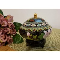 Caseta Cloisonne 13 cm - Floral - Nr catalog 3251 (Produse decorative)