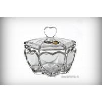 Caseta din cristal de Bohemia Heart