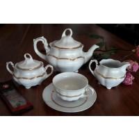 Serviciu de ceai din portelan - Bolero Princess - Nr catalog 1643 (Set Servicii Portelan de cafea)