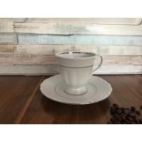 Serviciu de cafea 250 ml 6 persoane - Maria Tereza Platino - Nr catalog 3447 (Set Servicii Portelan de cafea)
