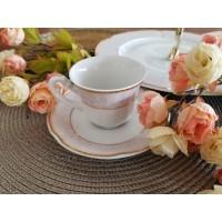 Serviciu de cafea 110 ml - 6 persoane - Bolero Jasmine - Nr catalog 2338 (Set Servicii Portelan de cafea)