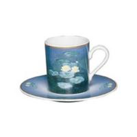 Ceasca cafea si farfurie din portelan