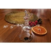 Clopotel 11.5 cm din cristal de Bohemia - Om de zapada - Nr catalog 2760 (Produse decorative)