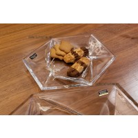 Set 6 farfurii desert 22 cm Bohemia cristalit - Origami - Nr catalog 2747 (Fructiere - Boluri - Platouri)