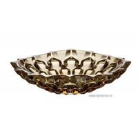 Fructiera 35 cm Bohemia cristalit - Samba Amber - Nr catalog 2554 (Fructiere - Boluri - Platouri)
