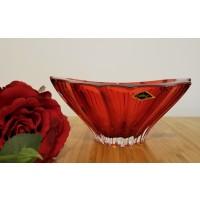 Fructiera 22 cm Bohemia cristalit - Venus Rosu - Nr catalog 3004 (Fructiere - Boluri - Platouri)