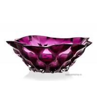 Fructiera 21 cm Bohemia cristalit - Samba Mov - Nr catalog 2561 (Fructiere - Boluri - Platouri)