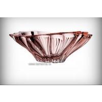 Fructiera Bohemia Cristalit 33 cm - Venus Roz - Nr catalog 2365 (Fructiere - Boluri - Platouri)