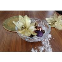 Fructiera decorata Bohemia cristalit 22 cm - Ingrid - Nr catalog 2706 (Fructiere - Boluri - Platouri)