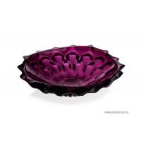 Fructiera 35 cm Bohemia cristalit - Samba Mov - Nr catalog 2352 (Fructiere - Boluri - Platouri)