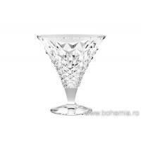 Set 6 cupe inghetata / salata fructe cristal Bohemia - Madison/Brittany - Nr catalog 1477