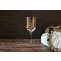 Set 6 pahare vin 400 ml Bohemia cristalin - Uma Gold Geometric - Nr. catalog 3403