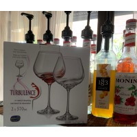 Pahare vin rosu 570 ml Bohemia cristalit - Turbulance - Nr catalog 3393 (Pahare)